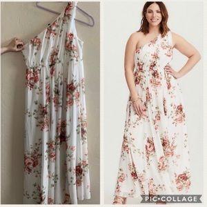 Torrid One Shoulder Floral Special Occasion Dress